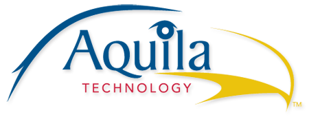This is a logo that was designed for Aquila Technology. It incorporates an illustration of an eagle head and the word Aquila.